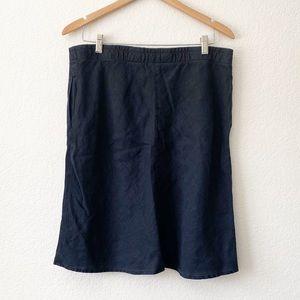 J Jill blue linen skirt size medium